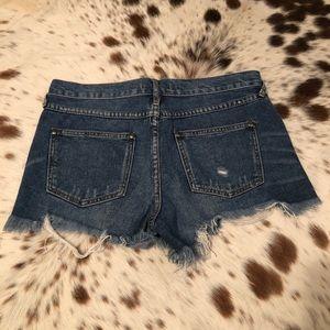Free People Shorts - Free People Denim Cutoff Shorts - Sz 27